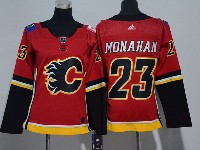 Women Nhl Calgary Flames #23 Sean Monahan Red Adidas Jersey