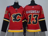 Women Nhl Calgary Flames #13 Johnny Gaudreau Red Adidas Jersey