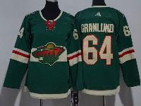 Women Youth Nhl Minnesota Wild #64 Granlund Green Home Premier Adidas Jersey