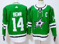 Mens Nhl Dallas Stars #14 Jamie Benn Adidas Home Green Jersey