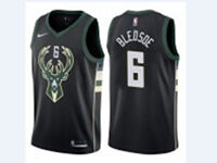 Mens Nba Milwaukee Bucks #6 Eric Bledsoe Black Nike Jersey