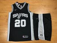 Mens Nba San Antonio Spurs #20 Manu Ginobili Black Nike Suit Jersey