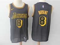 Mens Nba Los Angeles Lakers #8 Bryant Black Nike City Authentic Jersey