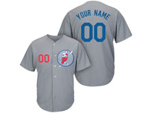 Mens Womens Youth Mlb Los Angeles Dodgers Custom Made Gray Cool Base Jersey