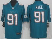 Mens Miami Dolphins #91 Cameron Wake Green Vapor Untouchable Limited Player Jersey