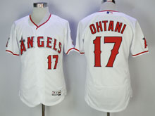 Mens Mlb Los Angeles Angels #17 Shohei Ohtani White Pullover Flex Base Jersey