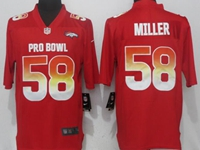 New Mens Nfl Denver Broncos #58 Von Miller Red Nike Royal 2018 Pro Bowl Limited Jersey