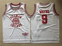 Nba Hillman College #9 Dwayne Wayne White Movie Throwback Mesh Jersey