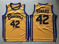 Nba Beacon Beavers #42 Scott Howard Yellow Movie Mesh Jersey