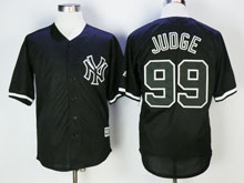 Mens Majestic New York Yankees #99 Aaron Judge Black Cool Base Jersey