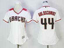 Women Mlb Arizona Diamondbacks #44 Paul Goldschmidt New White Cool Base Jersey