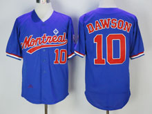 Mens Mlb Montreal Expos #10 Dawson ( Montreal ) Blue Throwbacks Jersey