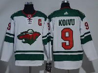 Mens Nhl Minnesota Wild #9 Mikko Koivu White Adidas Jersey