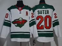 Mens Nhl Minnesota Wild #20 Ryan Suter White Adidas Jersey