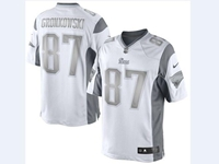 Mens Women Nfl New England Patriots #87 Rob Gronkowski White Silver Number 2018 Limited Jersey