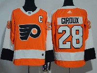 Mens Philadelphia Flyers #28 Claude Giroux Orange Adidas Jersey