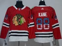 Mens Nhl Chicago Blackhawks #88 Patrick Kane (usa Flag Fashion) Red Adidas Jersey