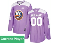 Mens Women Youth Nhl New York Islanders Purple Fights Cancer Adidas Practice Current Player Jersey