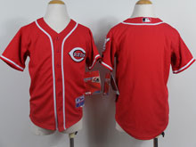 Youth Majestic Cincinnati Reds Blank Red Cool Base Jersey