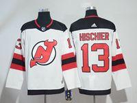 Mens Nhl New Jersey Devils #13 Nico Hischier White Adidas Jersey