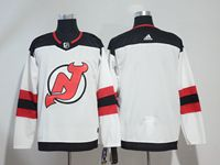 Mens Nhl New Jersey Devils Blank White Adidas Jersey