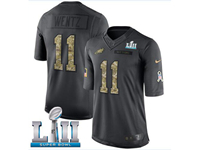Mens Women Youth Nfl Philadelphia Eagles #11 Carson Wentz Black Camo Number 2018 Salute To Service Limited Jersey