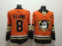 Mens Nhl Anaheim Mighty Ducks #8 Teemu Selanne Orange Adidas Jersey