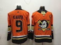 Mens Nhl Anaheim Mighty Ducks #9 Kariya Orange Adidas Jersey
