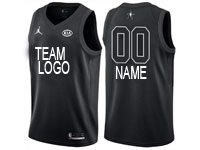 Mens Nba Custom Made 2018 All Star Black Jersey