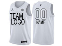 Mens Nba Custom Made 2018 All Star White Jersey