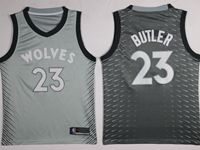 Mens Nba Minnesota Timberwolves #23 Jimmy Butler Gray Nike City Edition Swingman Jersey