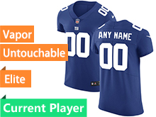 Mens New York Giants Blue Vapor Untouchable Elite Current Player Jersey