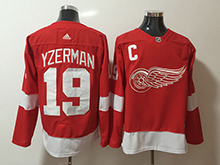 Mens Nhl Detroit Red Wings #19 Steve Yzerman Adidas Red Jersey