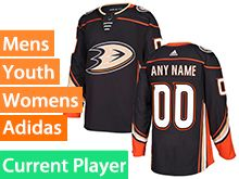 Mens Youth Adidas Anaheim Ducks Black Home Current Player Jersey
