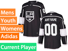Mens Womens Youth Adidas Los Angeles Kings Black Home Current Player Jersey