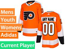 Mens Women Youth Adidas Philadelphia Flyers Orange Home Current Player Jersey