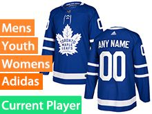 Mens Women Youth Adidas Toronto Maple Leafs Royal Blue Home Current Player Jersey