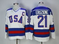 Mens Nhl Team Usa #21 Eruzione White Jersey