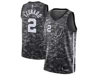 Men's 2017-18 Season Nba San Antonio Spurs #2 Kawhi Leonard Camo Swingman Jersey