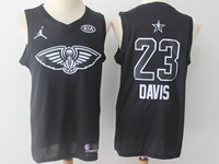 Mens 2018 All Star Nba New Orleans Pelicans #23 Anthony Davis Black Jersey