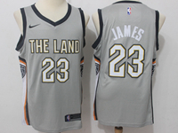 Mens Nba Cleveland Cavaliers #23 Lebron James Gray City Edition Swingman Jersey
