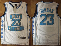 Mens Ncaa Nba North Carolina Custom Made White Jersey