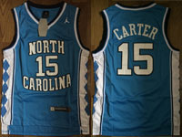 Mens Ncaa Nba North Carolina #15 Carter Swingmann Light Blue Jersey