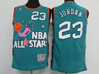 Mens Nba All Star Chicago Bulls #23 Michael Jordan Green Jersey