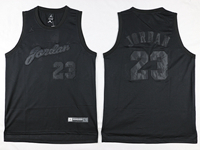 Mens Nba Chicago Bulls #23 Michael Jordan Black Anniversary Jersey(black Number And Name)
