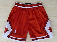 Mens Nba Chicago Bulls Red Nike Shorts(mesh)