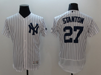 Mens Mlb New York Yankees #27 Giancarlo Stanton White Flex Base Jersey