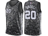 Mens 2017-18 Season Nba San Antonio Spurs #20 Manu Ginobili Camo Nike City Edition Swingman Jersey