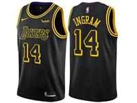 Mens Nba Los Angeles Lakers #14 Brandon Ingram Black Nike City Authentic Jersey
