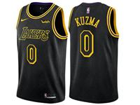 Mens Nba Los Angeles Lakers #0 Kyle Kuzma Black Nike City Authentic Jersey